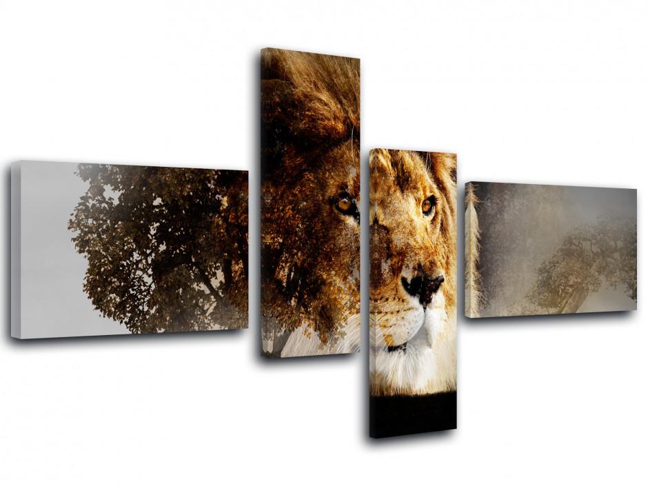 Tableau toile animaux photo LION