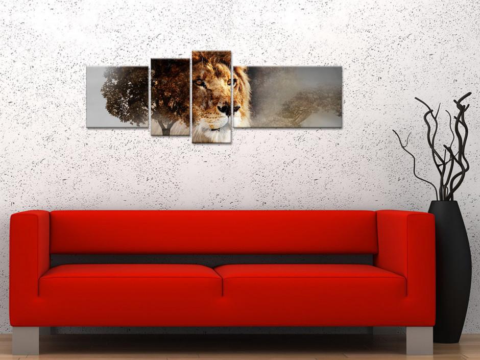 Tableau toile animaux LION SAUVAGE