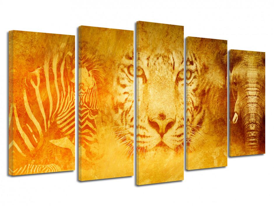 Tableau toile décorative ANIMAUX D'AFRIQUE