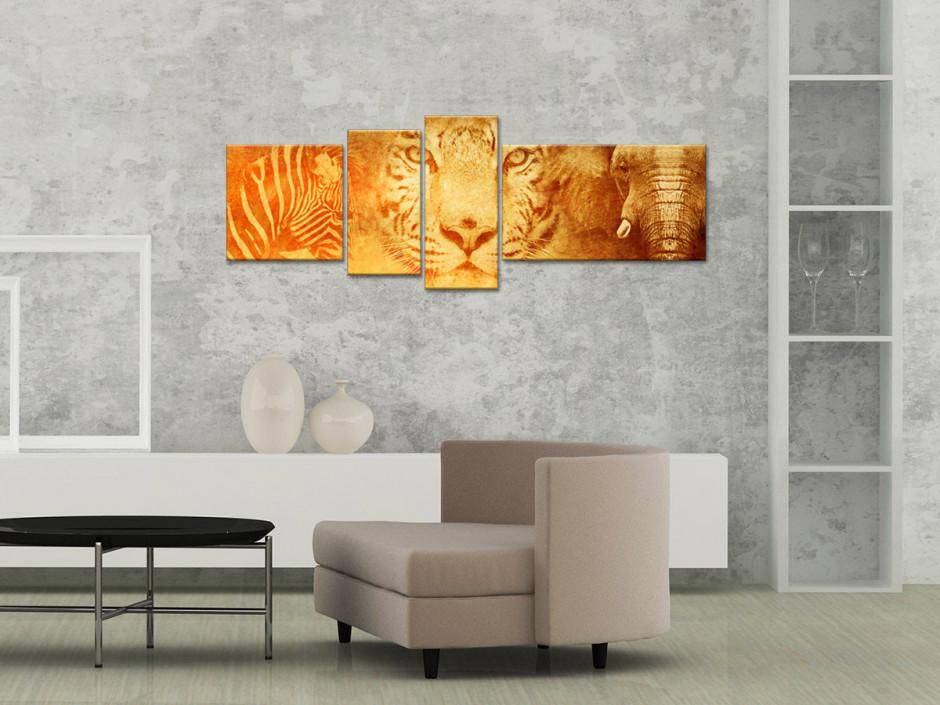 Tableau toile murale animaux AFRIQUE SAUVAGE