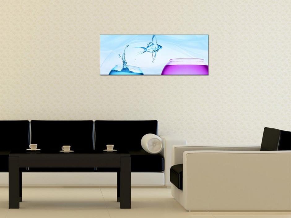 Tableau toile moderne POISSON DESIGN