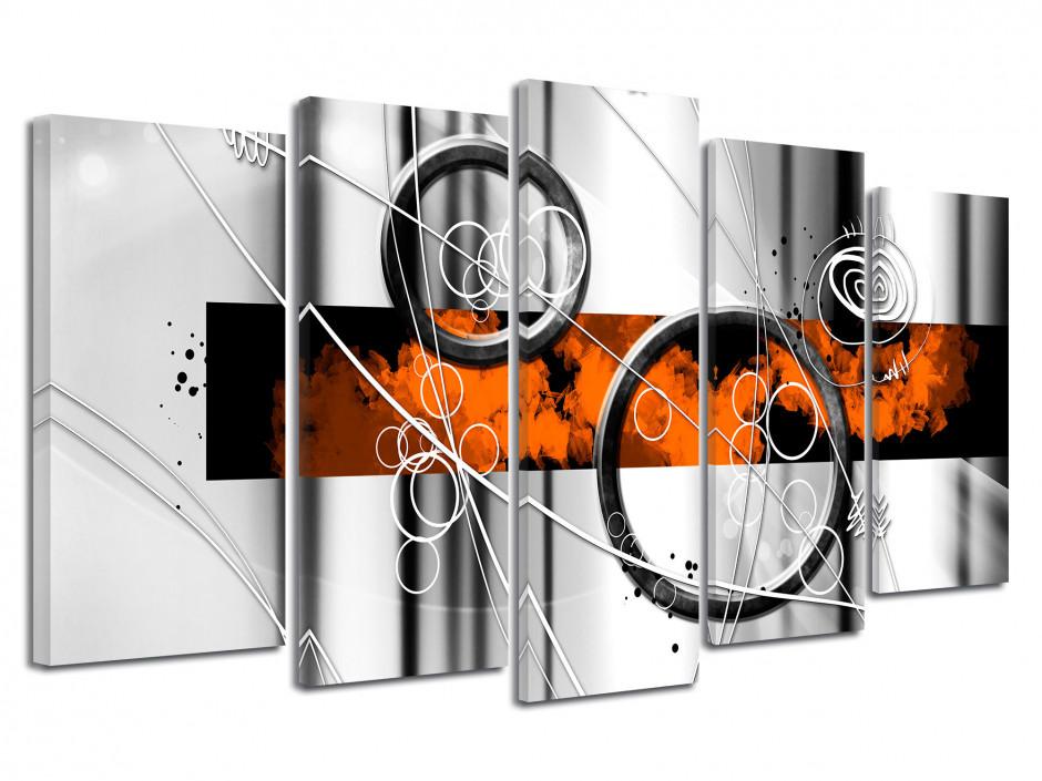 Tableau toile décoration abstraite CERCLES EN MOUVEMENT