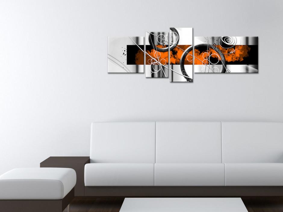 Tableau toile moderne abstraite RESSORTS