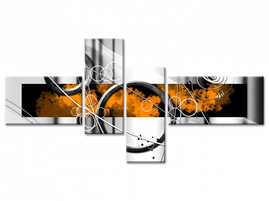 Tableau toile abstrait CERCLES