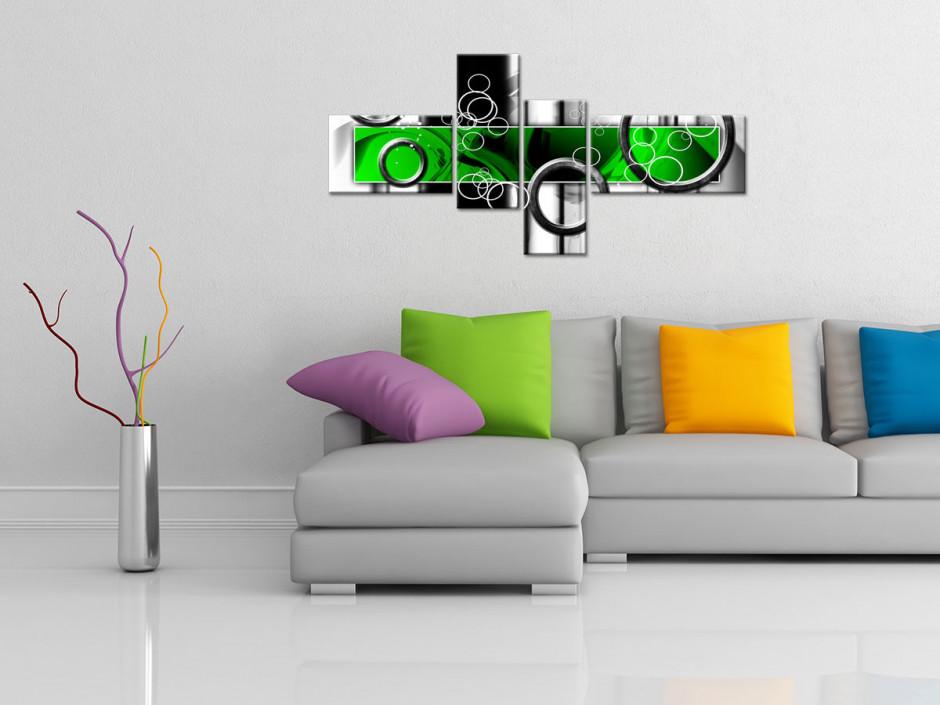 Tableau toile design abstrait déco ANNEAUX