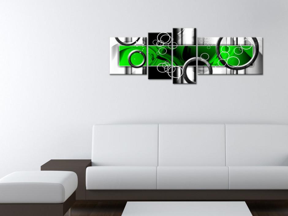 Tableau toile abstrait design RONDS