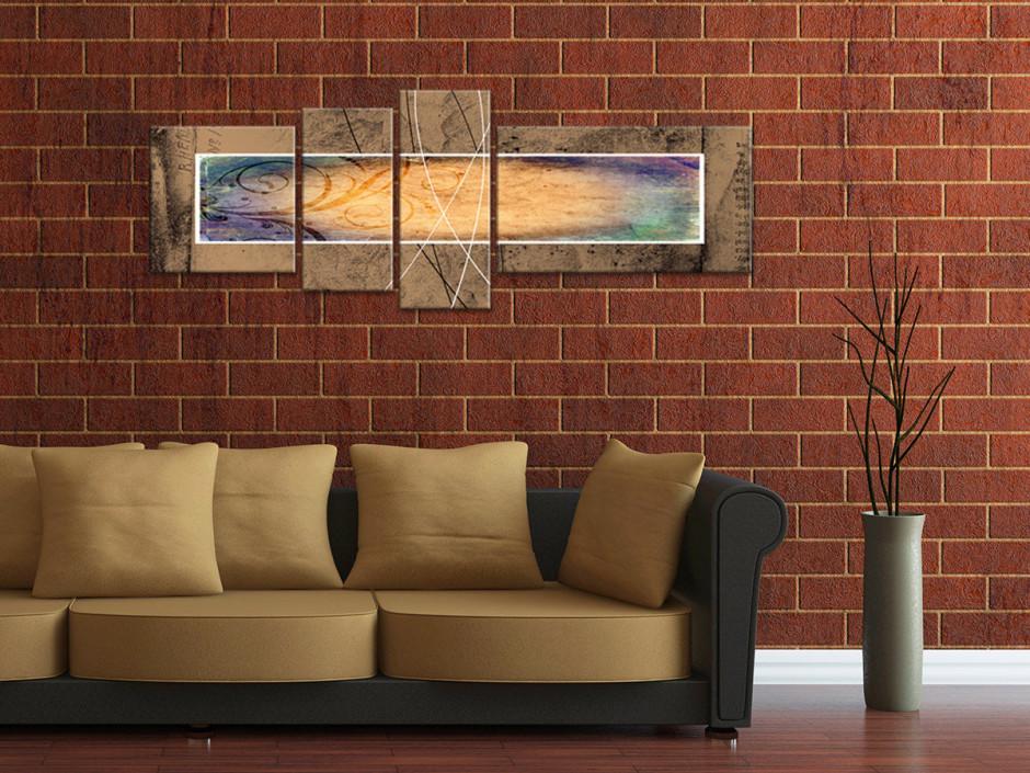 Tableau toile abstrait décoration moderne EMPREINTES