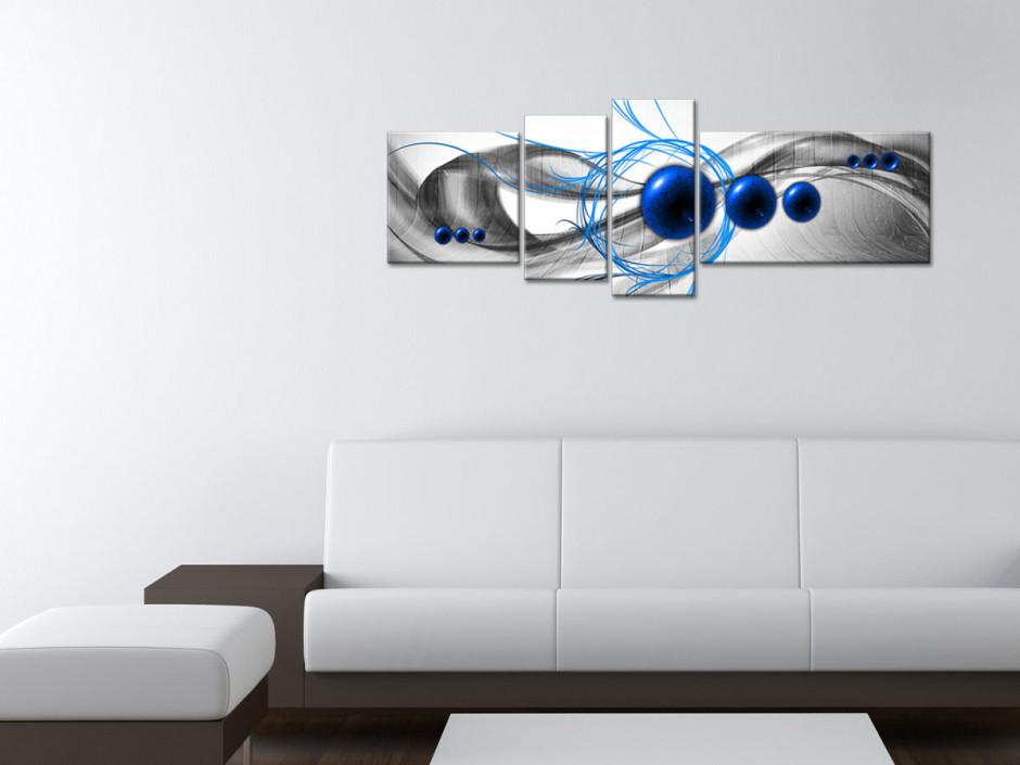 Tableau toile design abstrait LES NEUF BILLES