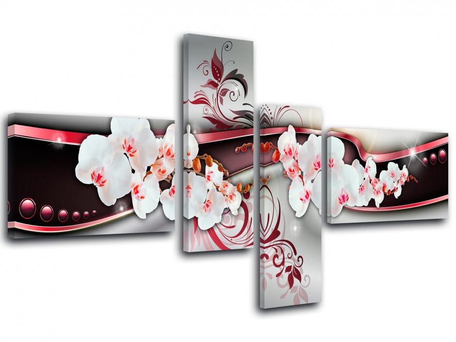 Tableau toile déco fleurs JOLIES ORCHIDÉES