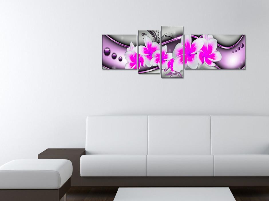 Tableau Toile Moderne Déco Fleurs Exotiques