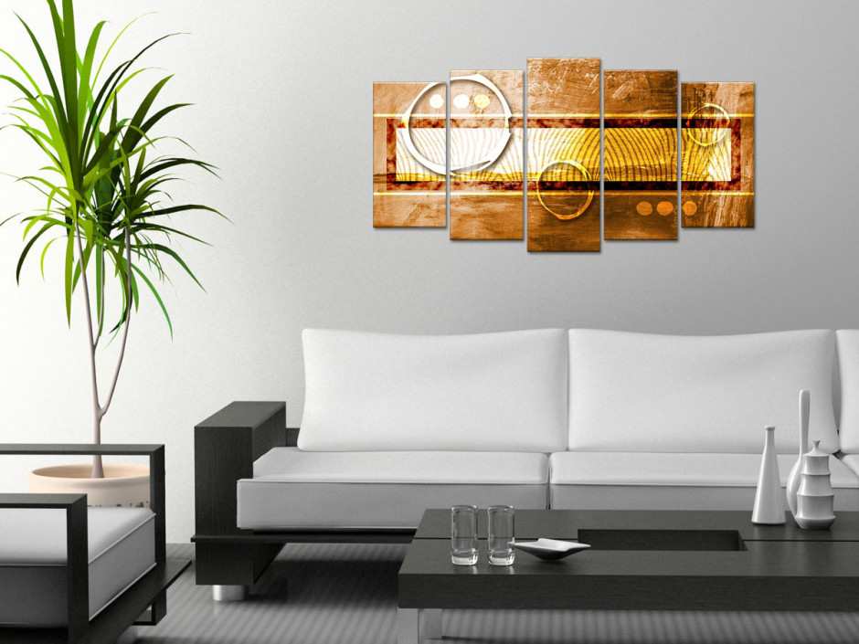 Tableau toile design abstrait AMBIANCE AFRICAINE