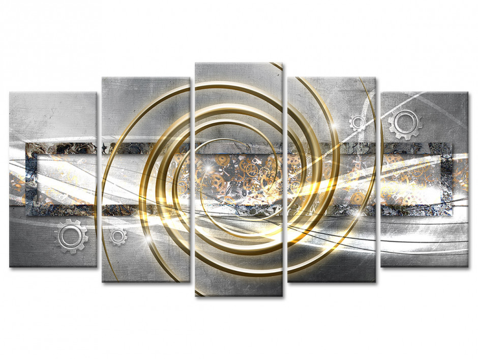 Tableau toile décoration abstraite TIME