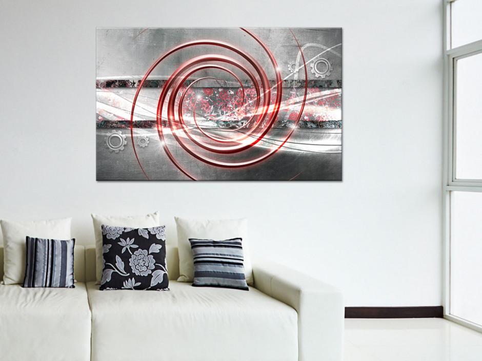 Tableau toile abstrait décoration ROUAGES