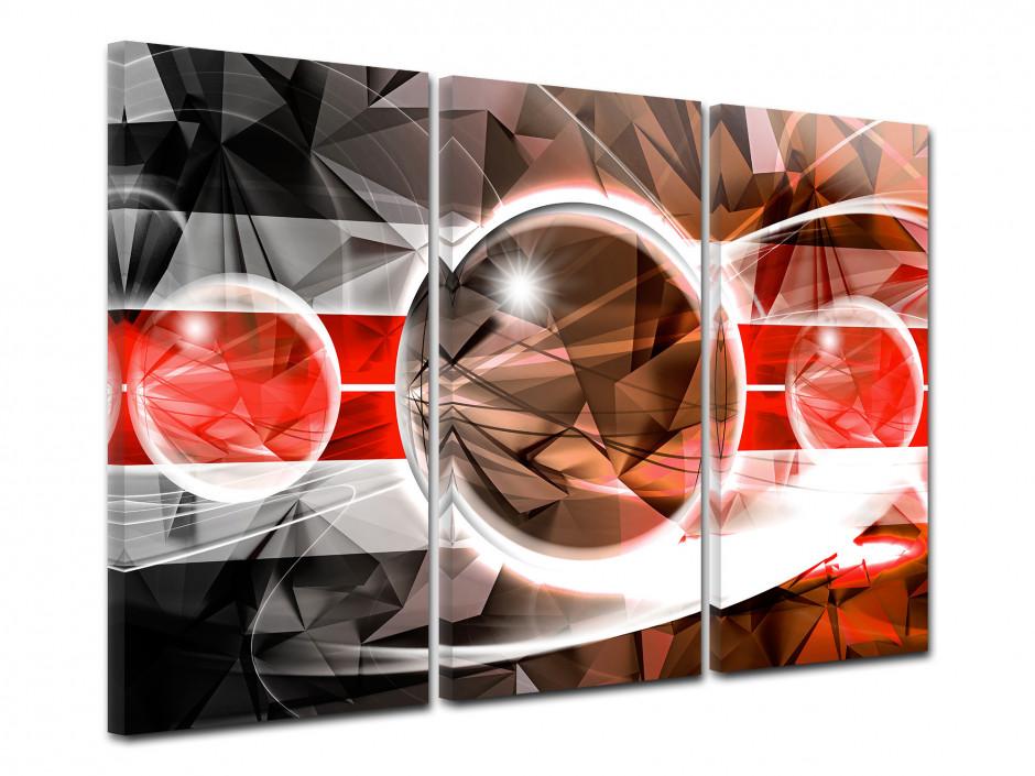 Tableau toile triptyque déco abstraite RELIEF