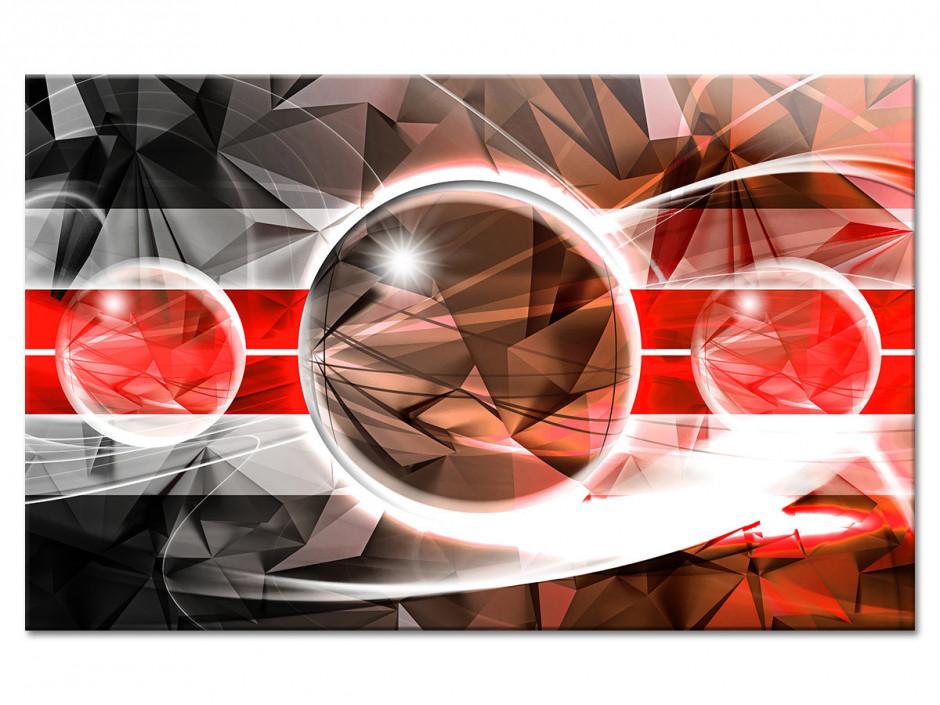Tableau toile abstrait design SPHÈRES BRILLANTES