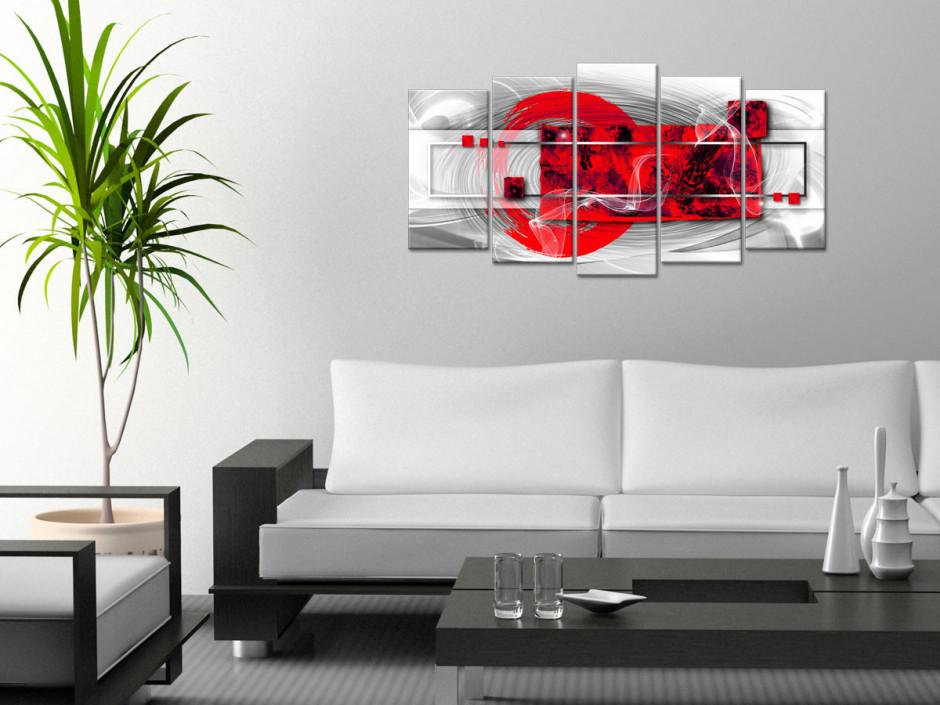Tableau toile art abstrait moderne VOILE BLANC