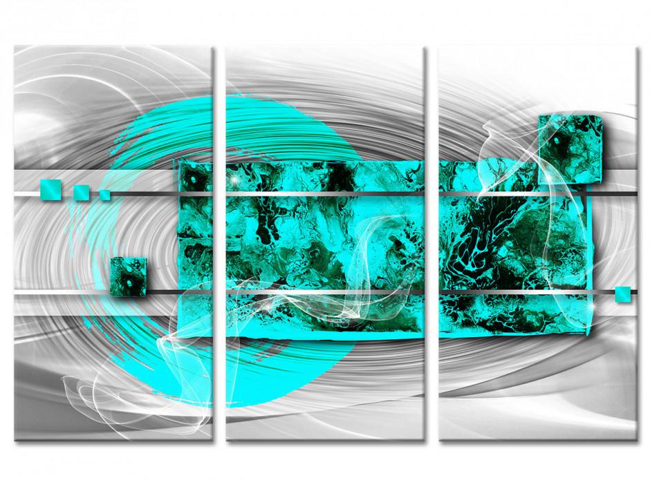Tableau toile triptyque art abstrait SAGESSE