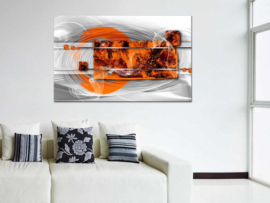 Tableau toile abstrait WHITE EFFECT
