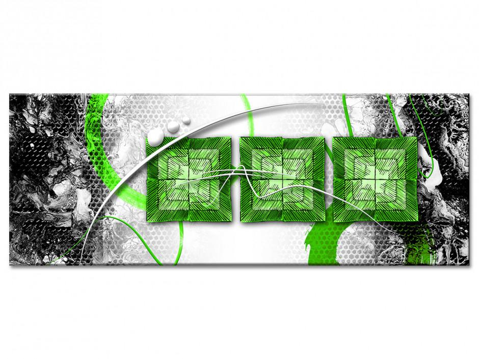 Tableau toile moderne deco abstraite TROIS CARRÉS