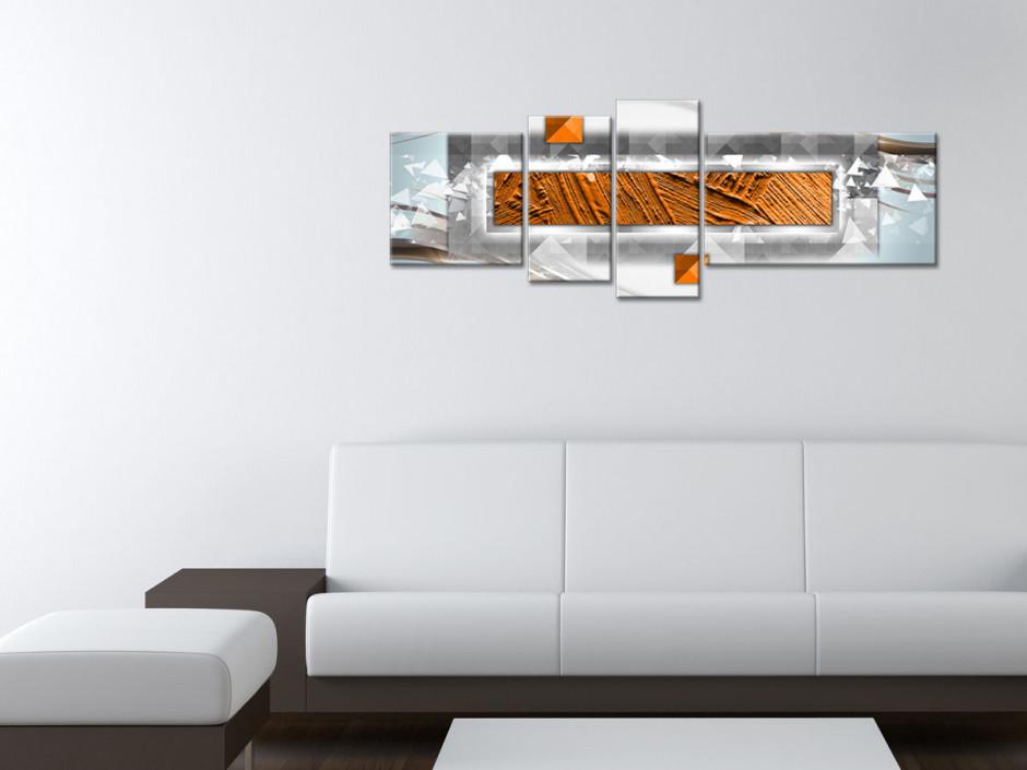 Tableau toile art abstrait FORMES GÉOMÉTRIQUES
