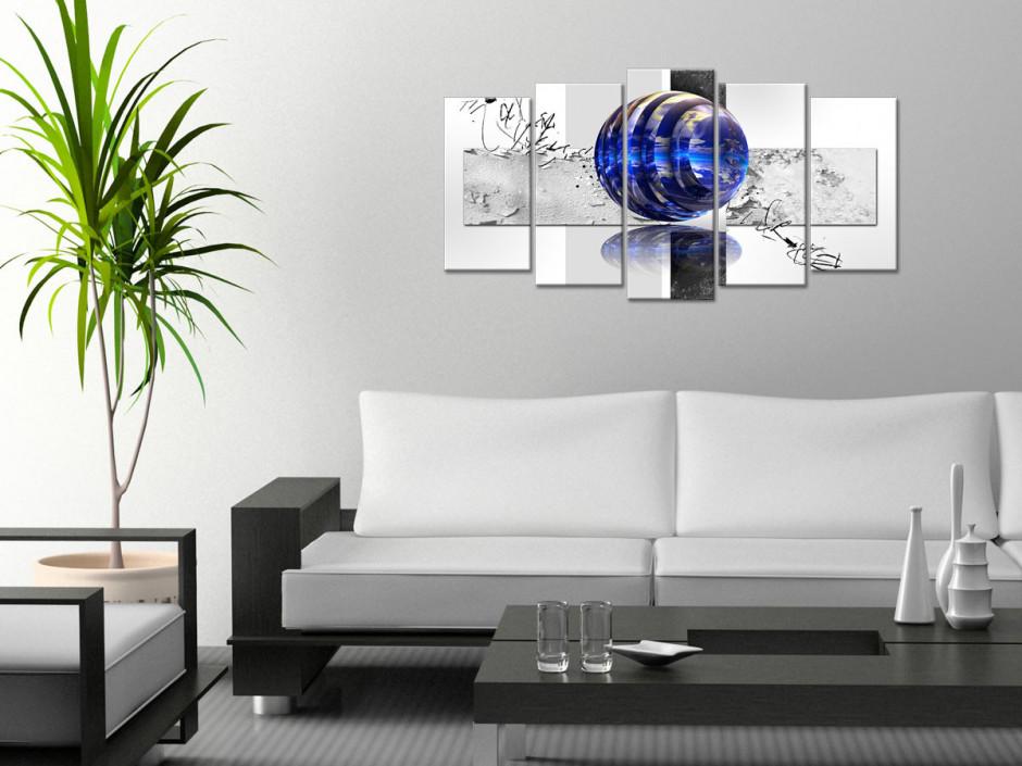 Tableau toile abstrait design SPHÈRES