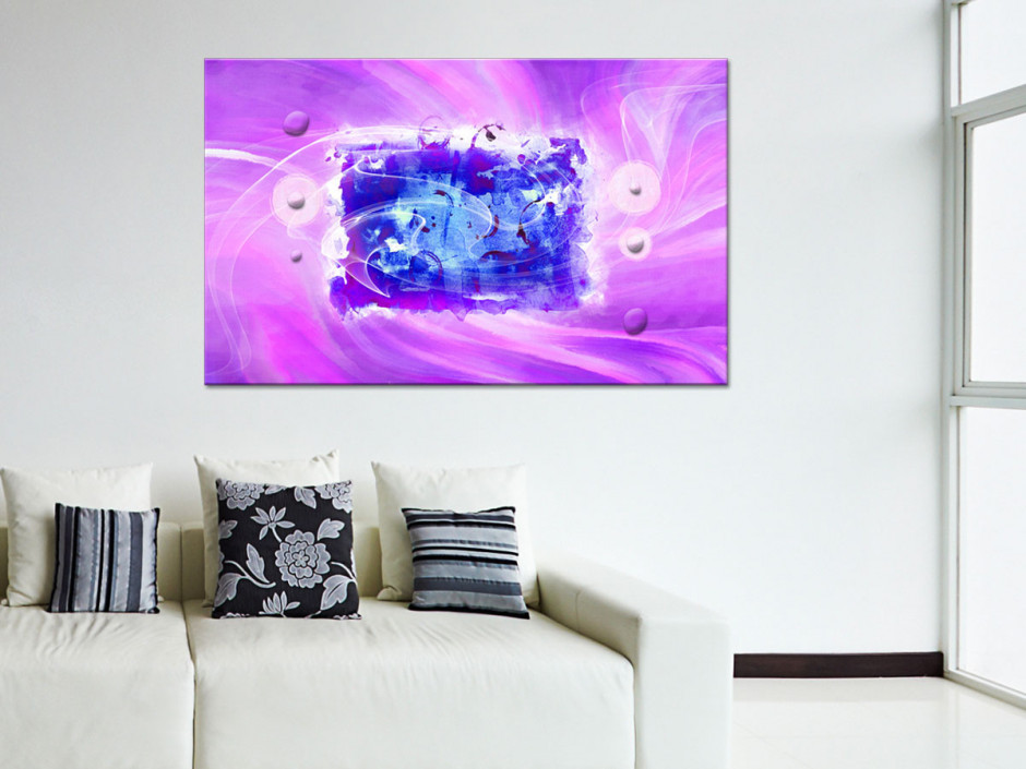 Tableau toile décoration peinture abstraite FLY