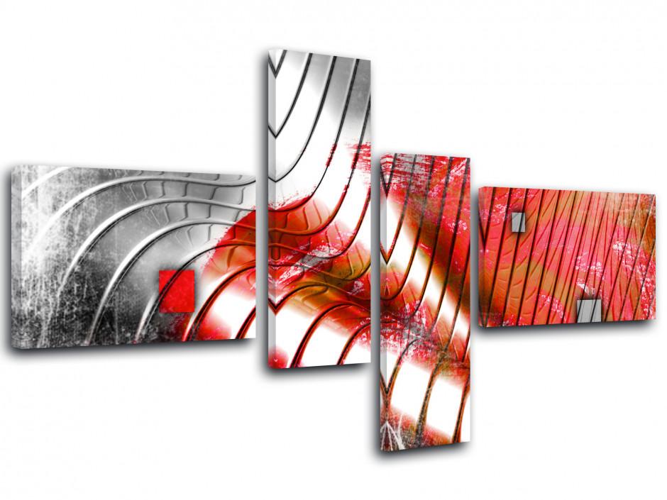 Tableau toile design abstrait VAGUES