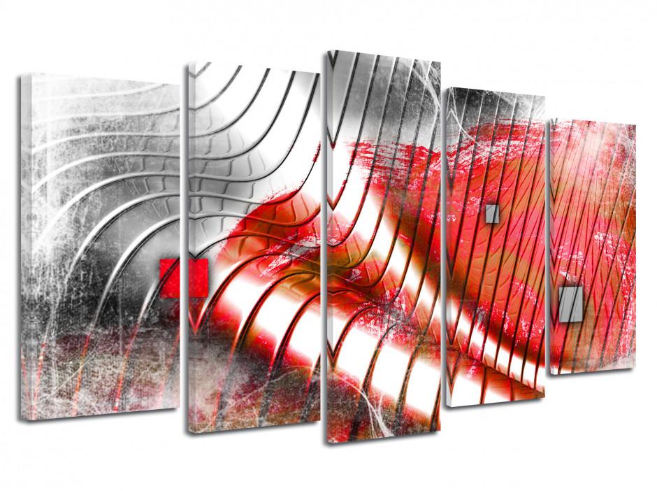 Tableau toile design décoration VAGUES ABSTRAITES