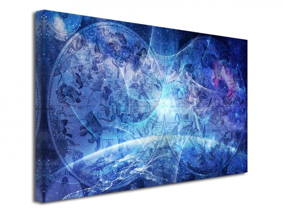Tableau toile abstrait CARTOGRAPHIE ASTROLOGIE