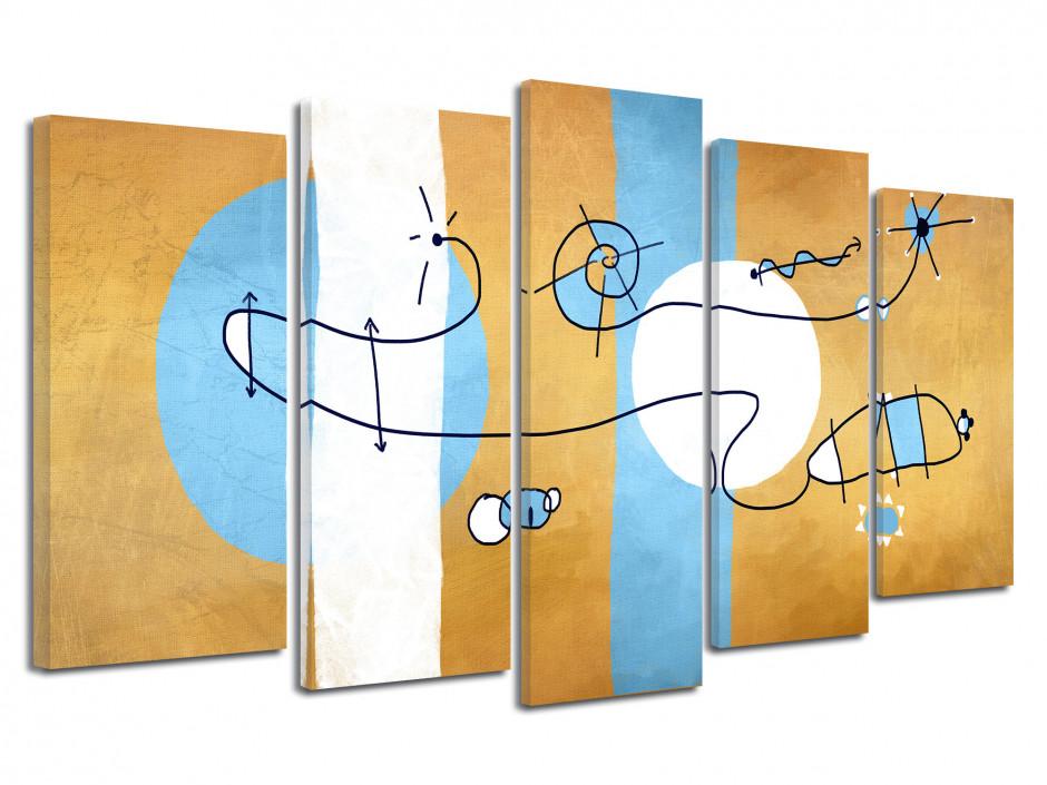 Tableau toile dessin abstrait CERF-VOLANT