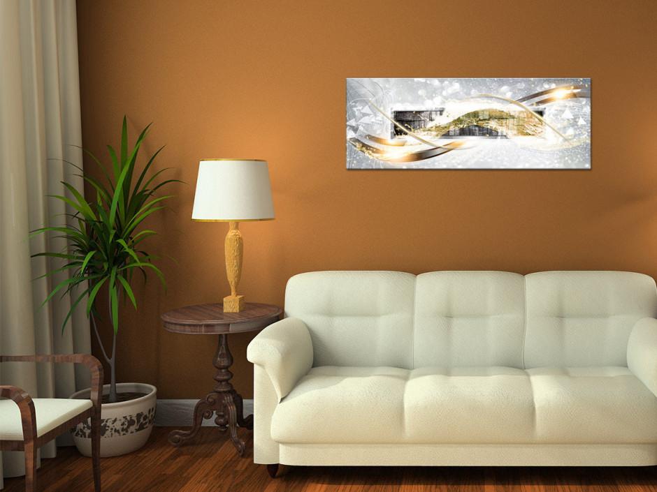 Tableau toile décoration abstraite BOIS