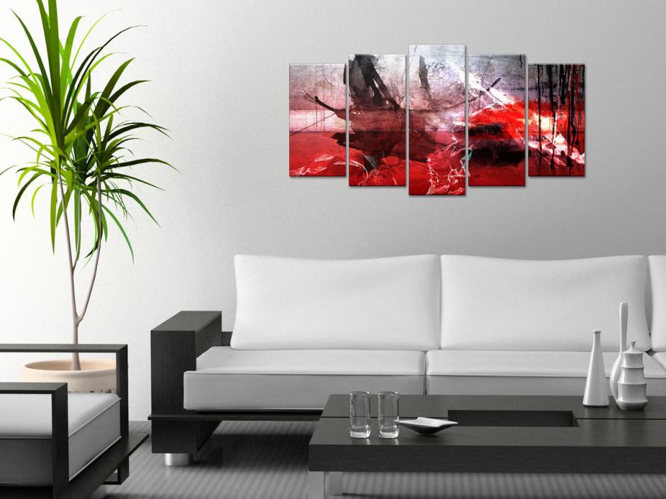 Tableau toile abstrait moderne TACHES