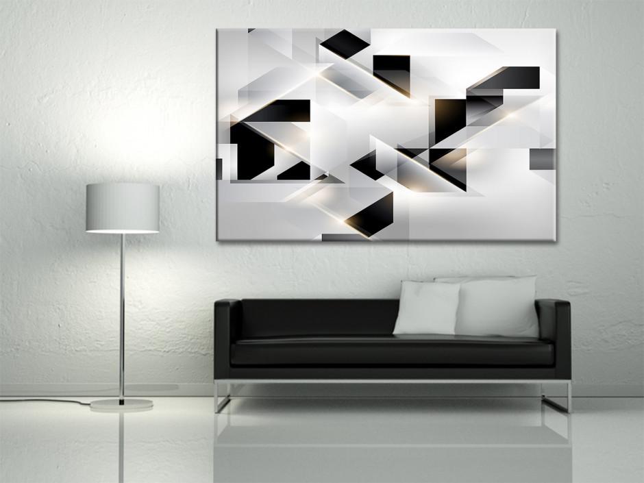 Tableau toile abstrait ORIGAMI