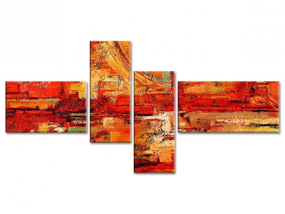 Tableau toile art abstrait CREPI