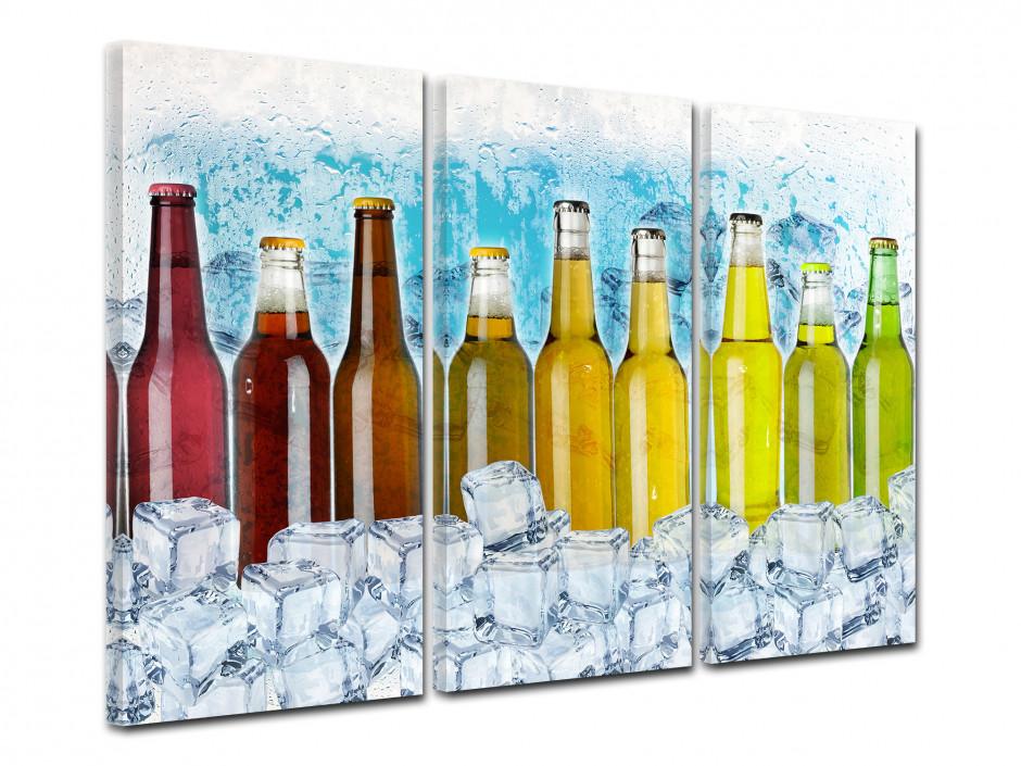 Tableau deco triptyque Les bouteilles de Soda