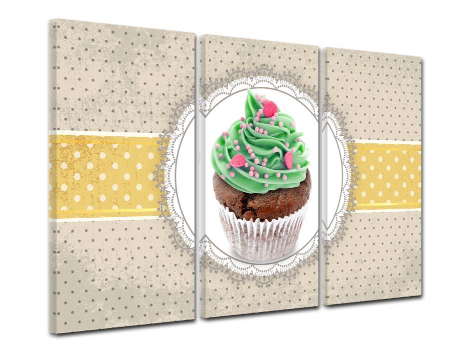 Tableau triptyque Cupcake