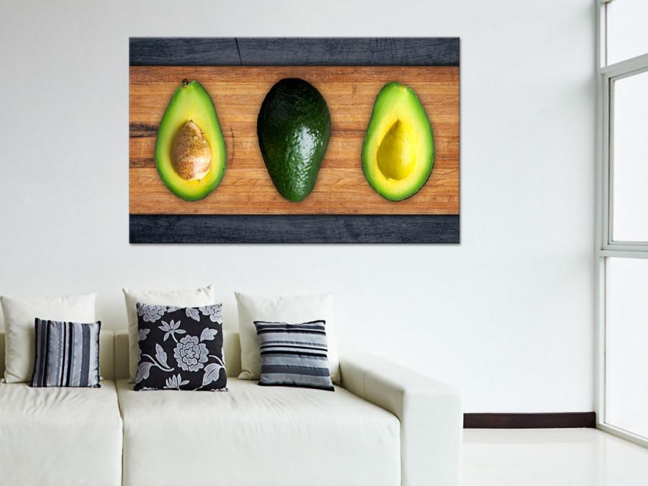 Tableau toile décorative cuisine Avocat