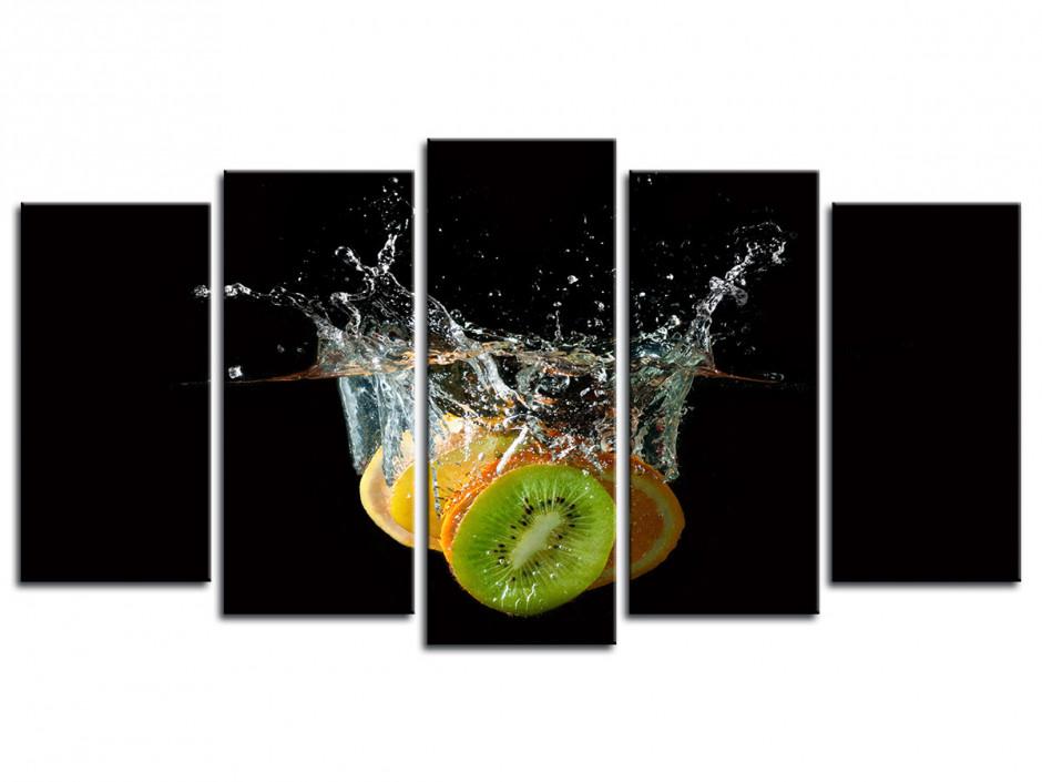 Cadre Déco Cuisine Kiwi dans l'eau