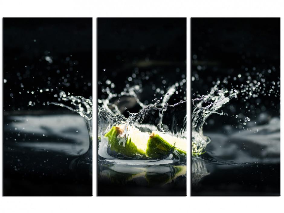 Tableau triptyque Citron Vert