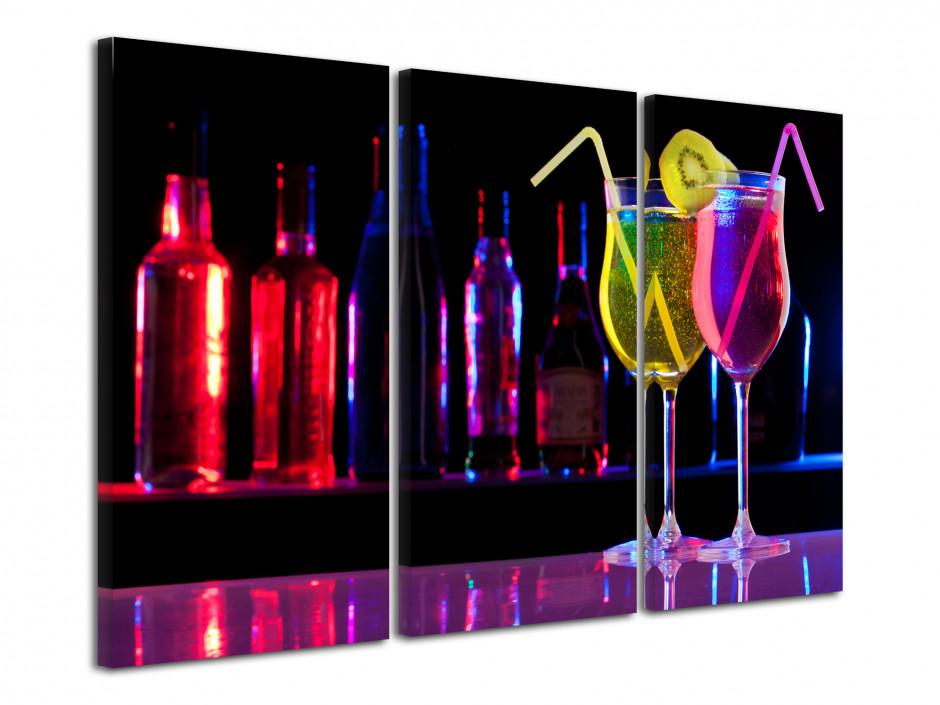 Tableau triptyque Bar à Cocktails