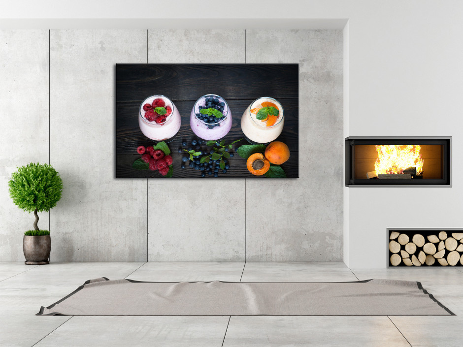 Tableau toile deco Yahourt aux Fruits