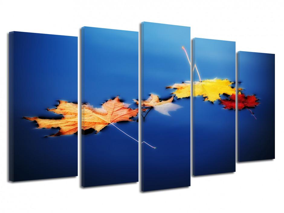 Tableau déco toile feuilles d'automne