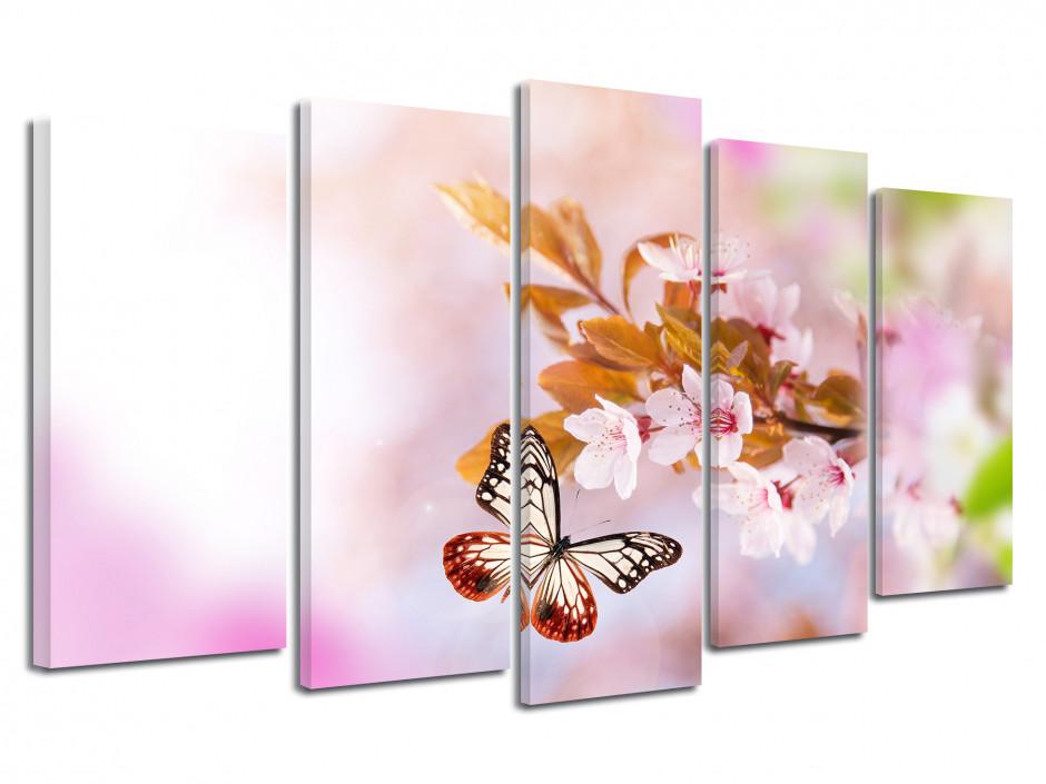 Tableau décoratif fleurs de printemps