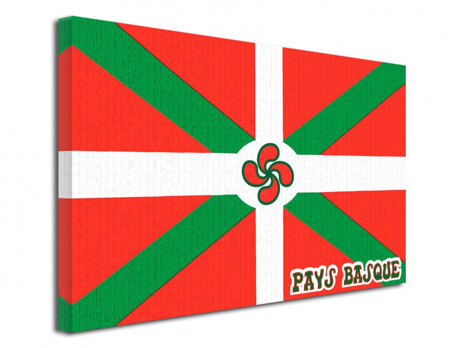 Tableau illustration graphique drapeau Basque