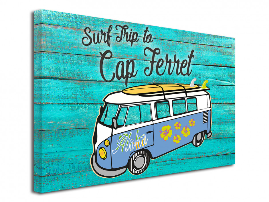 Tableau Illustration Surf Trip to Cap Ferret