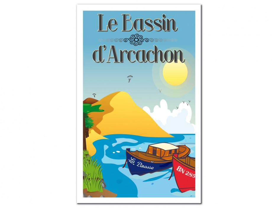 Tableau illustration graphique Bassin d'Arcachon