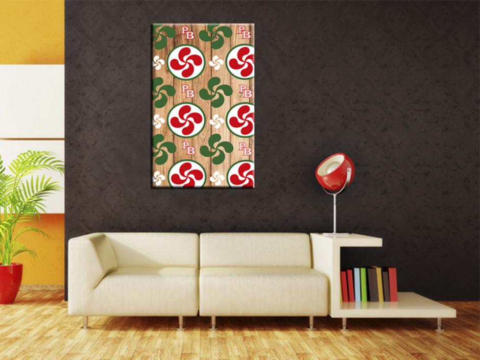 Tableau deco illustration dessin Croix Basque