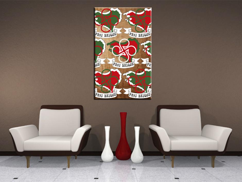 Tableau deco Stimell Illustration Pays Basque