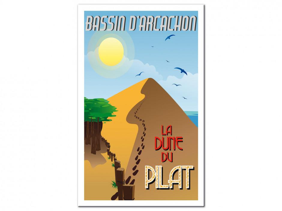 Tableau affiche illustration La Dune du Pilat