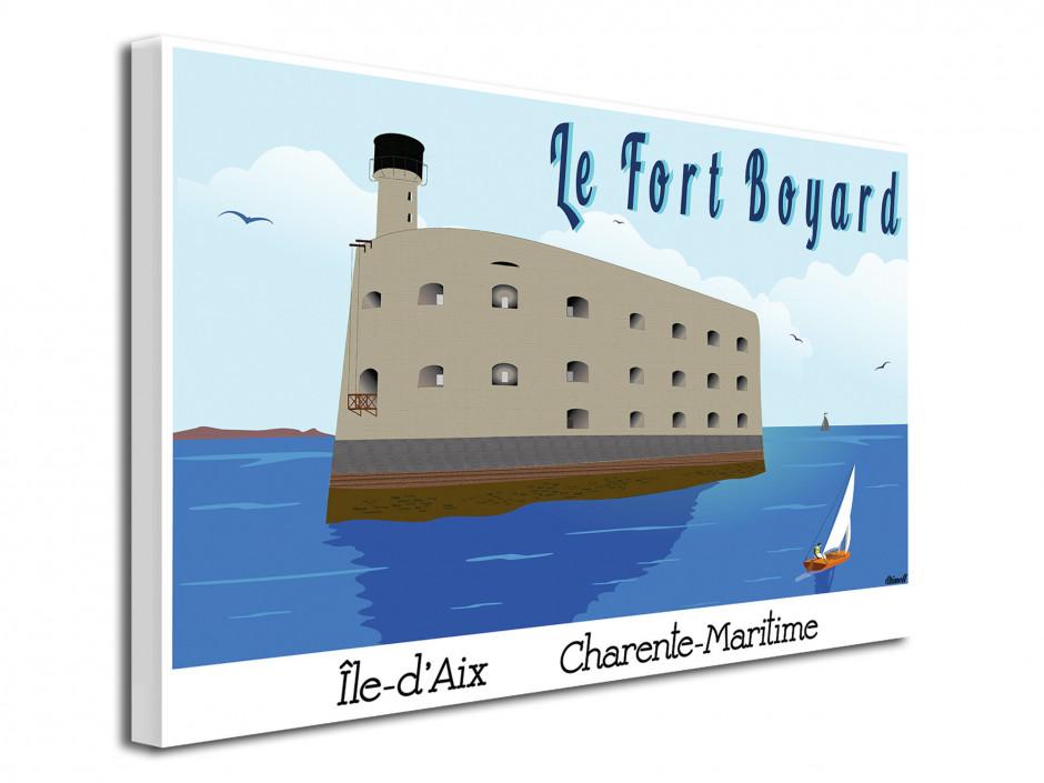 Tableau déco illustration Le Fort Boyard